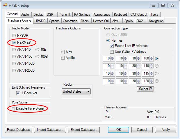 SDR transceiver compatible with HPSDR